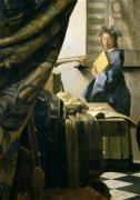 The Artist's Studio c.1665-6 (detail)