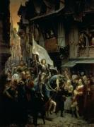 The Entrance of Joan of Arc into Orleans by Jean-Jacques Scherrer