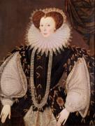 Portrait of Elizabeth Sydenham, Lady Drake, c.1585 by George Gower