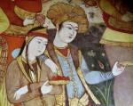 Nobles at the Court of Shah Abbas I (Detail) by Persian School