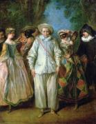 The Actors of the Commedia dell'Arte by Nicolas Lancret