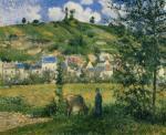 Landscape at Chaponval 1880 by Camille Pissarro
