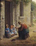 Feeding the Young 1850 by Jean Francois Millet