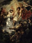 The Reconciliation of Marie de Medici and her son in 1621 by Peter Paul Rubens