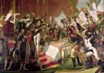 The Distribution of the Eagle Standards 1808 by Jacques-Louis David