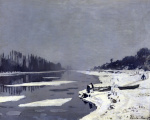 Ice on the Seine at Bougival c.1864 by Claude Monet