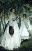 The Two Sisters' Portrait 1863 by James Jacques Joseph Tissot