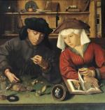 The Money Lender and his Wife 1514 by Quentin Metsys