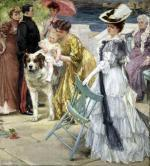 En Famille by Gustave Grau