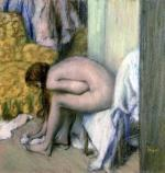 After the Bath Woman Drying her Left Foot 1886