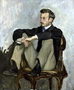 Portrait of Auguste Renoir 1867 by Jean Frederic Bazille