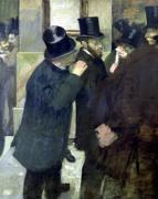 At the Stock Exchange c.1878 by Edgar Degas