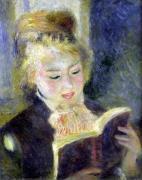 Girl Reading 1874 by Pierre Auguste Renoir