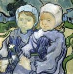 Two Little Girls 1890 by Vincent Van Gogh