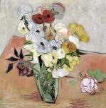 Roses and Anemones 1890 by Vincent Van Gogh