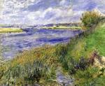 The Banks of the Seine Champrosay 1876 by Pierre Auguste Renoir