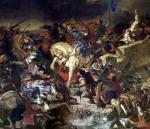 The Battle of Taillebourg 1837 by Ferdinand Victor Eugene Delacroix