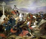 The Battle of Poitiers won by Charles Martel 1837 by Charles Auguste Steuben