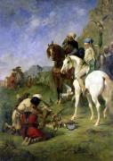 A Falcon Hunt in Algeria' The Quarry by Eugene Fromentin
