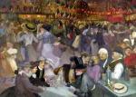 Ball on the 14th July by Theophile-Alexandre Steinlen