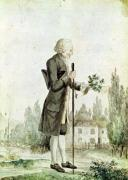 Jean-Jacques Rousseau Gathering Herbs at Ermenonville by French School