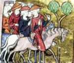 Travellers from the 'Roman de Jules Cesar' by Anonymous