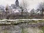 The Church at Vetheuil under Snow 1878 by Claude Monet