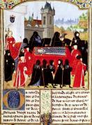 Charles VI of France's funeral in 1422 with the Duke of Bedford by Anonymous