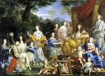 The Family of Louis XIV 1670 by Jean Nocret
