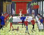 The Marriage Feast of Renaud of Montauban and Clarisse by Loyset Liedet