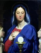 The Virgin of the Host 1866 by Jean-Auguste-Dominique Ingres