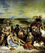Scenes from the Massacre of Chios 1822 by Ferdinand Victor Eugene Delacroix