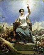 France Illuminating the World by Ange-Louis Janet-Lange