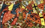 Battle between Crusaders and Moslems by Anonymous