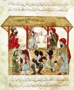 A Slave Market from 'Al Maqamat' by Al-Hariri by Persian School