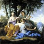 The Muses Clio Euterpe and Thalia c.1652 by Eustache Le Sueur