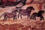 Rock painting of tarpans (ponies) by Anonymous