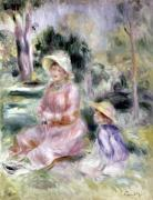 Madame Renoir and her son Pierre 1890 by Pierre Auguste Renoir