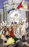 Triumph of King Louis XIV of France driving the Chariot of the Sun by Joseph Werner