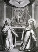 St. John of the Cross and St. Theresa of Avila by French School