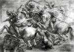 The Battle of Anghiari after Leonardo da Vinci by Peter Paul Rubens
