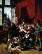 The Assassination of Brion Tutor to the Prince of Conti 1833 by Joseph-Nicolas Robert-Fleury