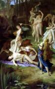 The Death of Orpheus 1866 by Emile Levy