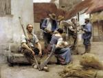 Paying the Harvesters 1882 by Leon Augustin L'Hermitte