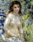 Study. Torso effect of sunlight c.1875 by Pierre Auguste Renoir