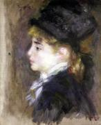 Portrait of a woman possibly Margot c.1876 by Pierre Auguste Renoir