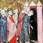 A conspiracy against Louis I 'the Pious' Holy Roman Emperor by French School
