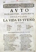 First page of 'La Vida es Sueno' from Los Autos Sacramentales' by Spanish School