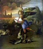 St. Michael (one half of a diptych) c.1505 by Raphael