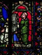 The Tree of Jesse Window detail depicting Abbot Suger by French School